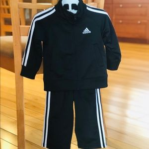 Adidas Black Track Suit, Like New, 12months